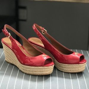 NWT Coach Red Wedges